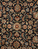 Navy Blue Heritage Kashmiri Silk Carpet