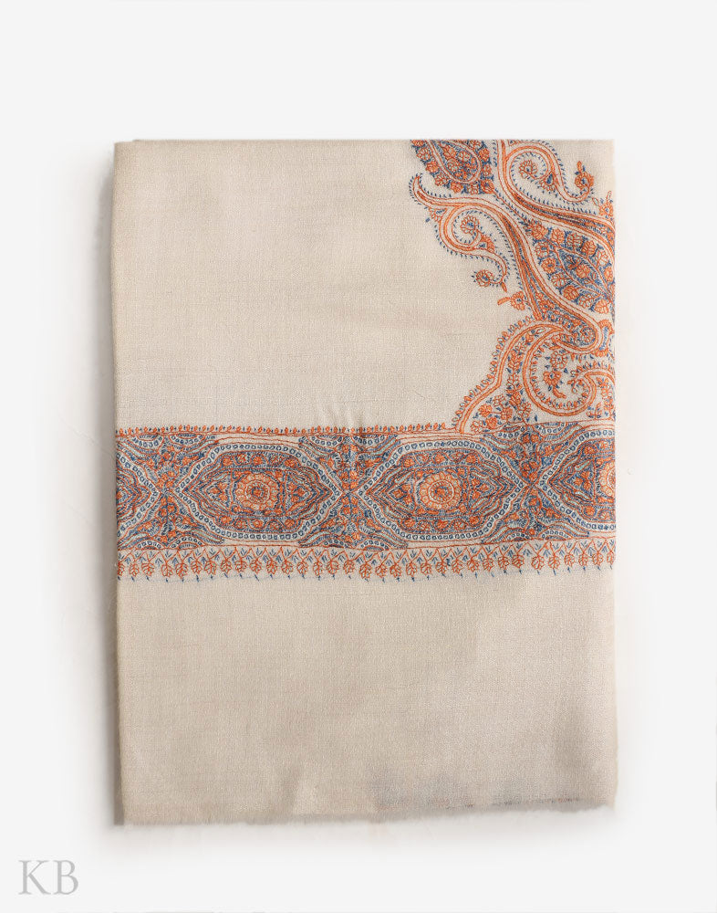Naqsh E Kabeer Hand Embroidered Pashmina Mussar - Kashmir Box