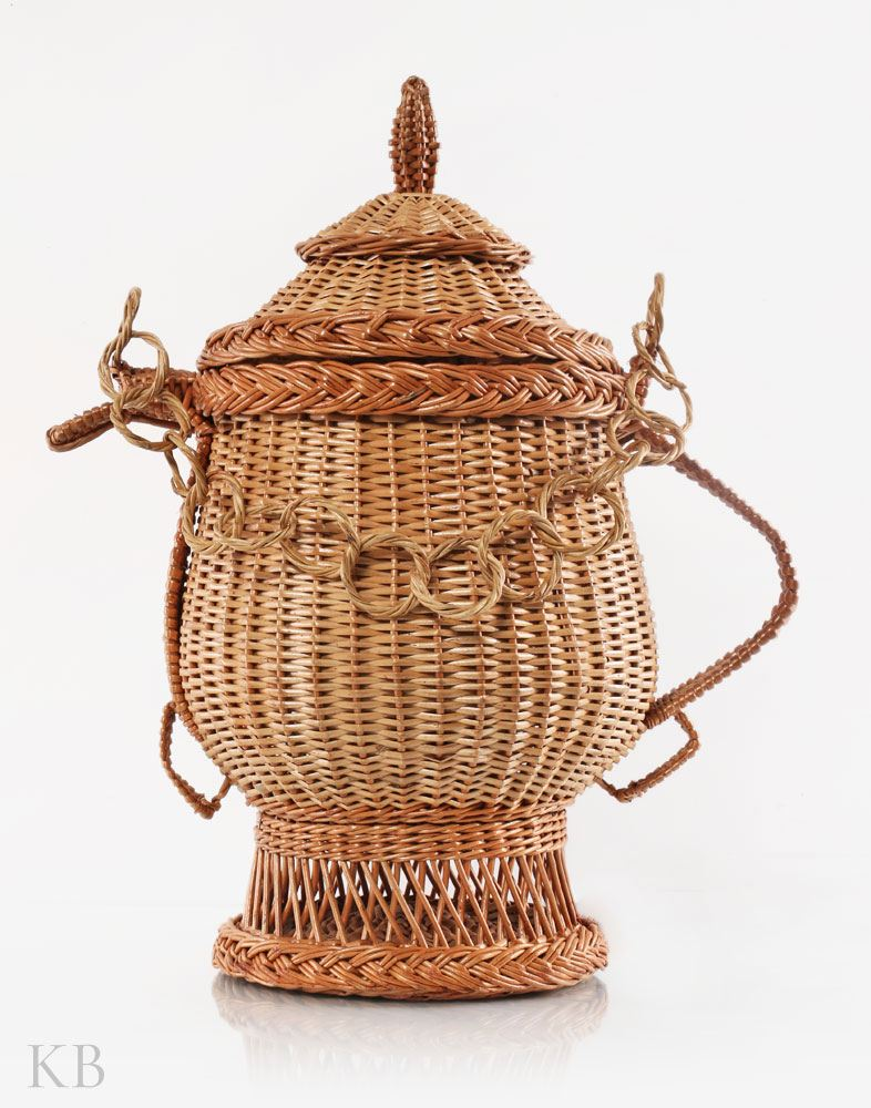 Handmade Willow Decorative Samovar
