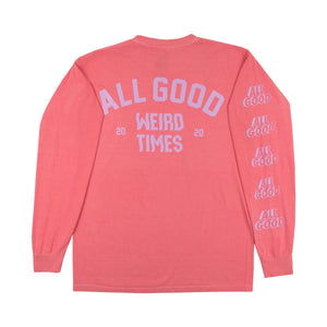 ALLGOOD WEIRD TIMES LONGSLEEVE SHIRT - WATERMELON