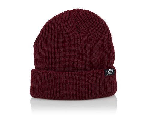 AGNB EVERYDAY BEANIE - BURGANDY