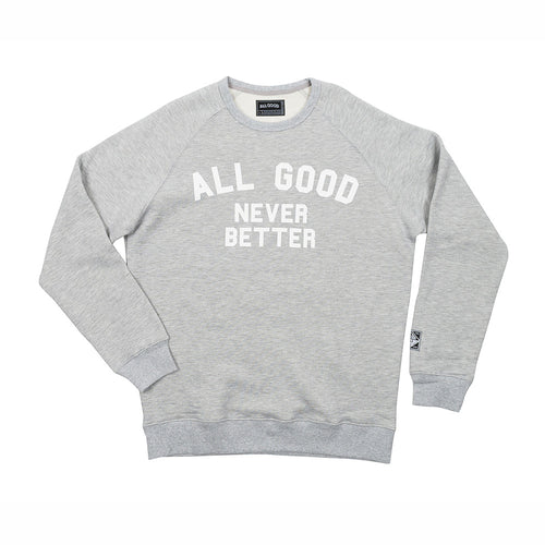 ALL GOOD AGNB RAGLAN GREY - GREY