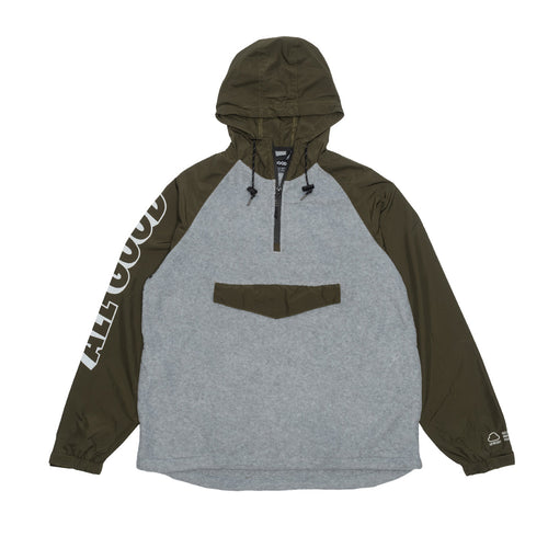 ZEPHYR FLEECE ROOTED - OLIVE/GREY