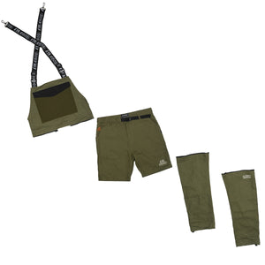 LAUREL ZIP OFF OVERALL - OLIVE