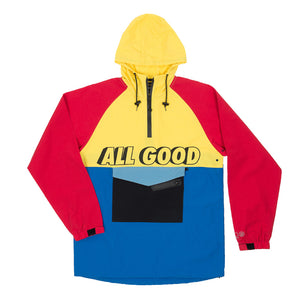 PRIMARY RAGLAN ROOTED - BLUE/YELLOW/RED