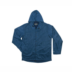 ALL GOOD ALL GOOD SQUARE CULTER COACH JACKET - NAVY