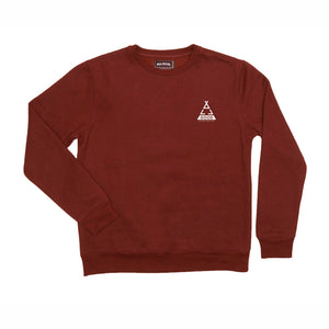 ALL GOOD TENTED BURG CREWNECK - BURGANDY