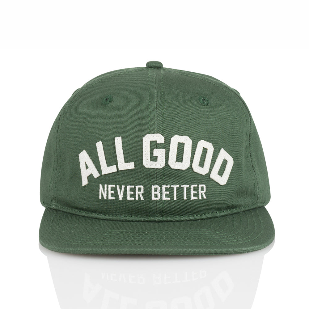 ALL GOOD AGNB SNAPBACK - GREEN