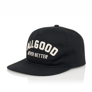 ALL GOOD Buckeye HAT AGNB CAP - BLACK