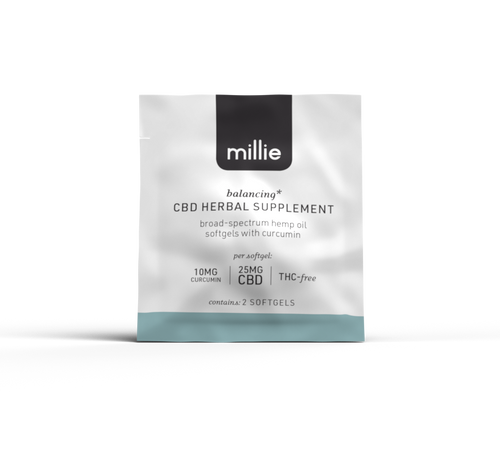 millie CBD Herbal Supplement with Curcumin 2-Pack pcr hemp oil