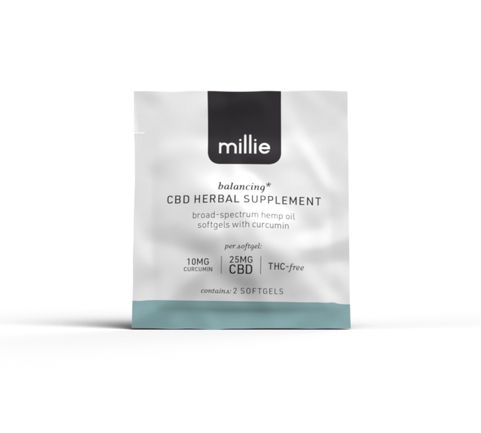 millie CBD Herbal Supplement with Curcumin 2-Pack