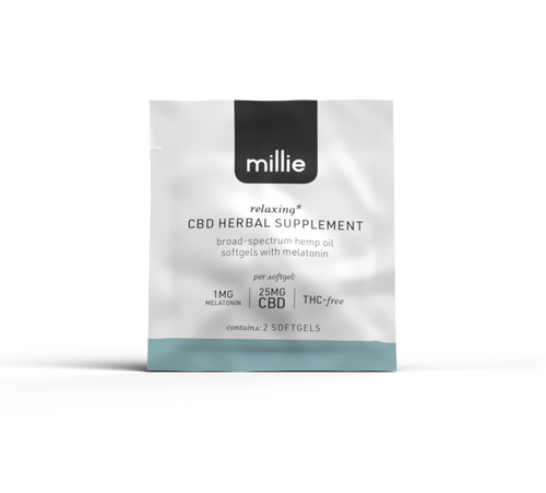 millie CBD Herbal Supplement with Melatonin 2-Pack pcr hemp oil