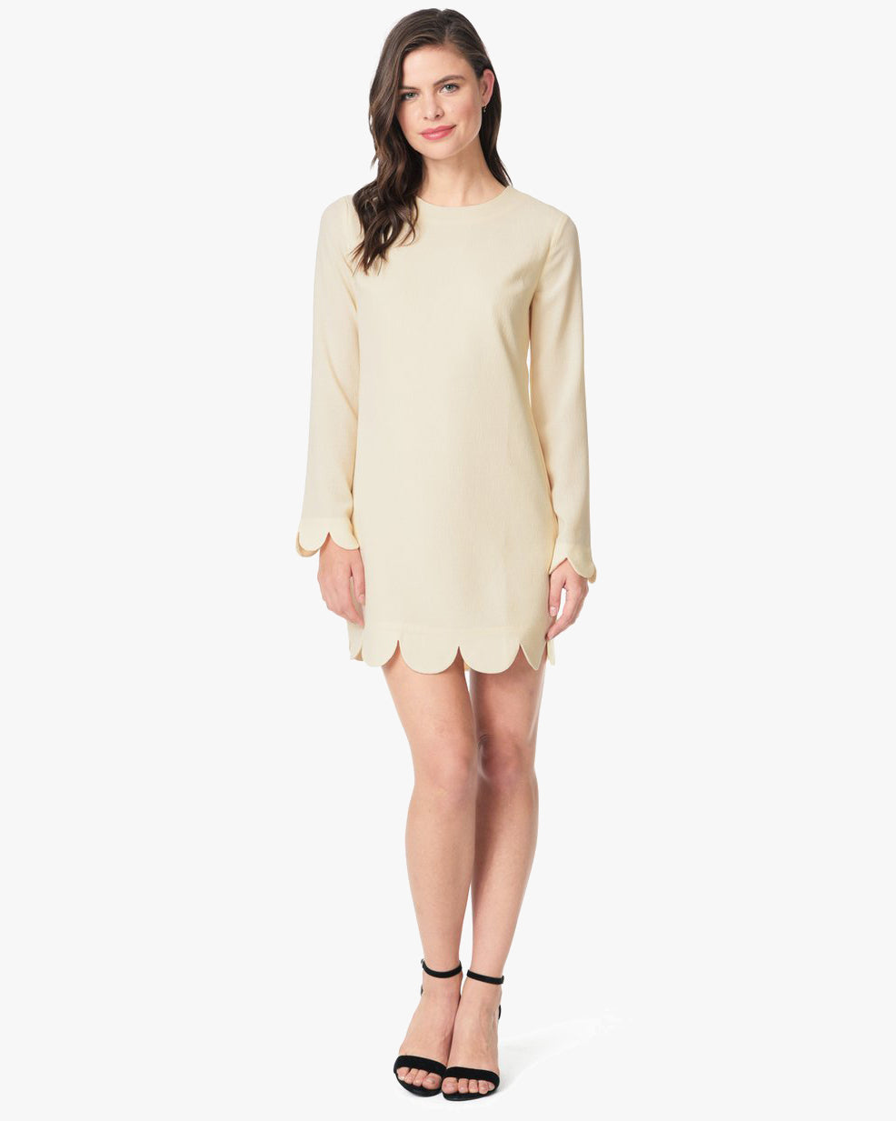SCALLOPED HEM DRESS