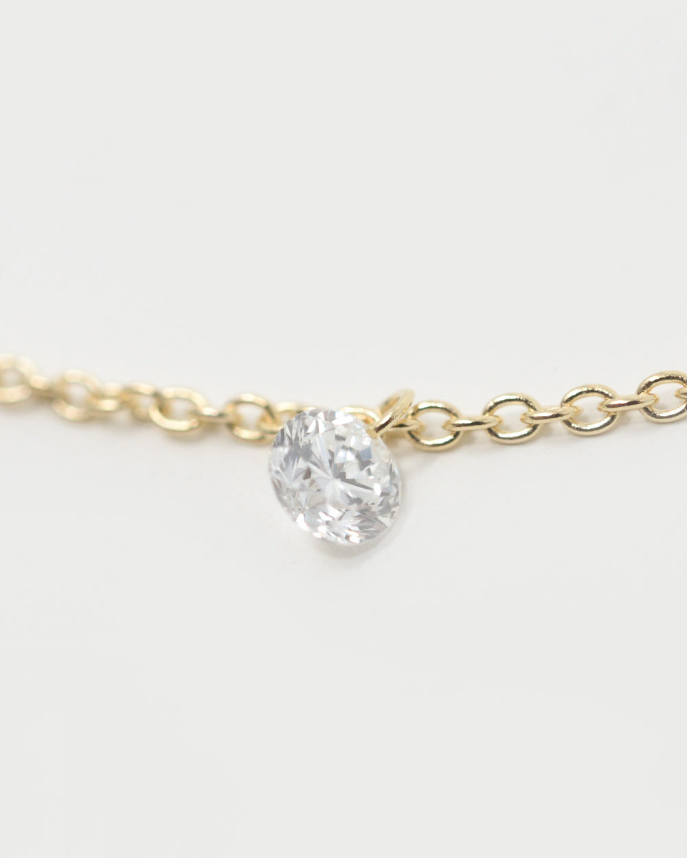 SYCAMORE FIVE STONE FLOATING DIAMOND NECKLACE
