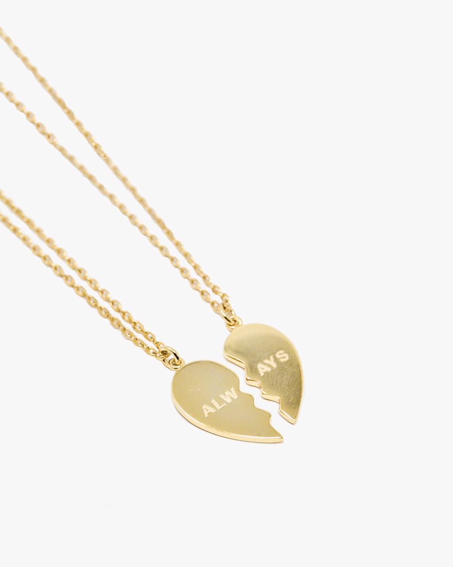 'ALWAYS' BFF HEART NECKLACES