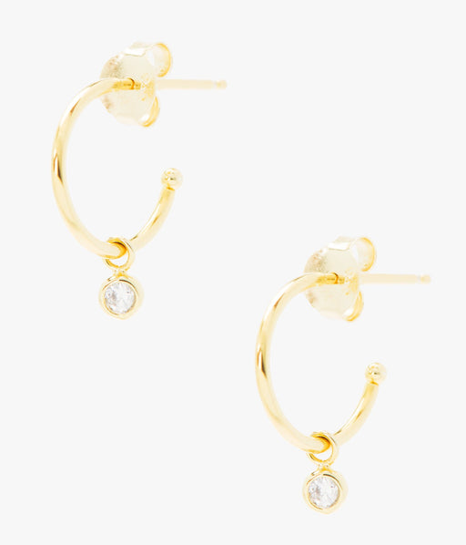 Large View - Lucy Gold Hoop Earrings