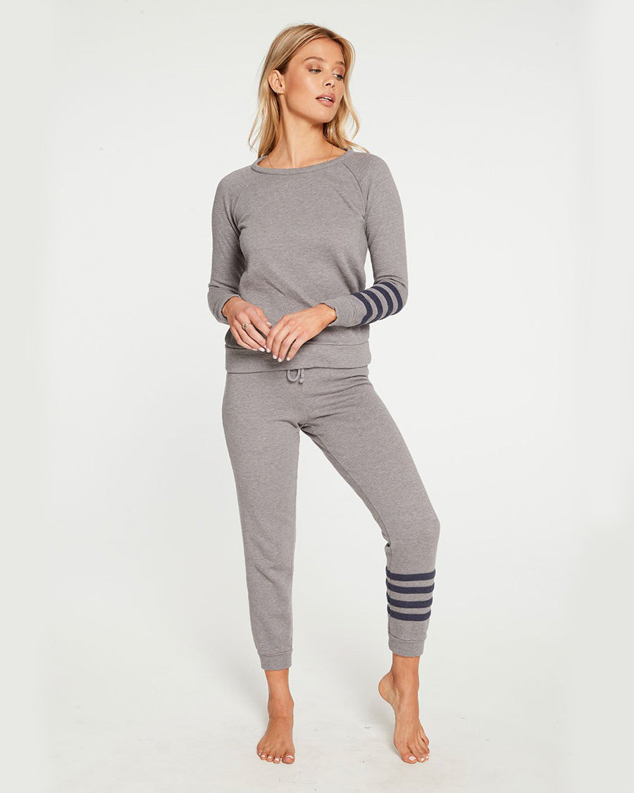 CASHMERE FLEECE LONG SLEEVE PULLOVER