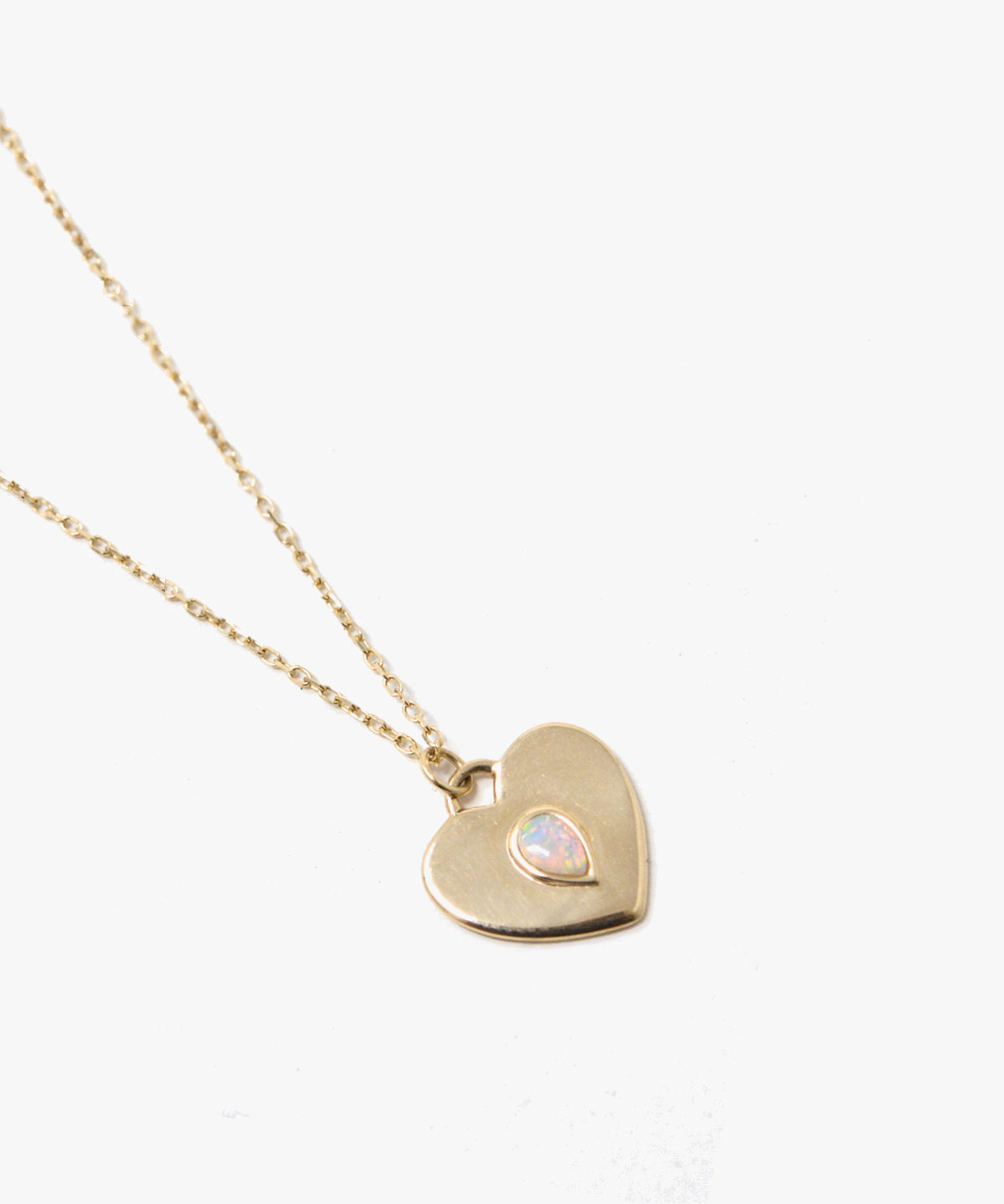 HAZEL OPAL HEART NECKLACE