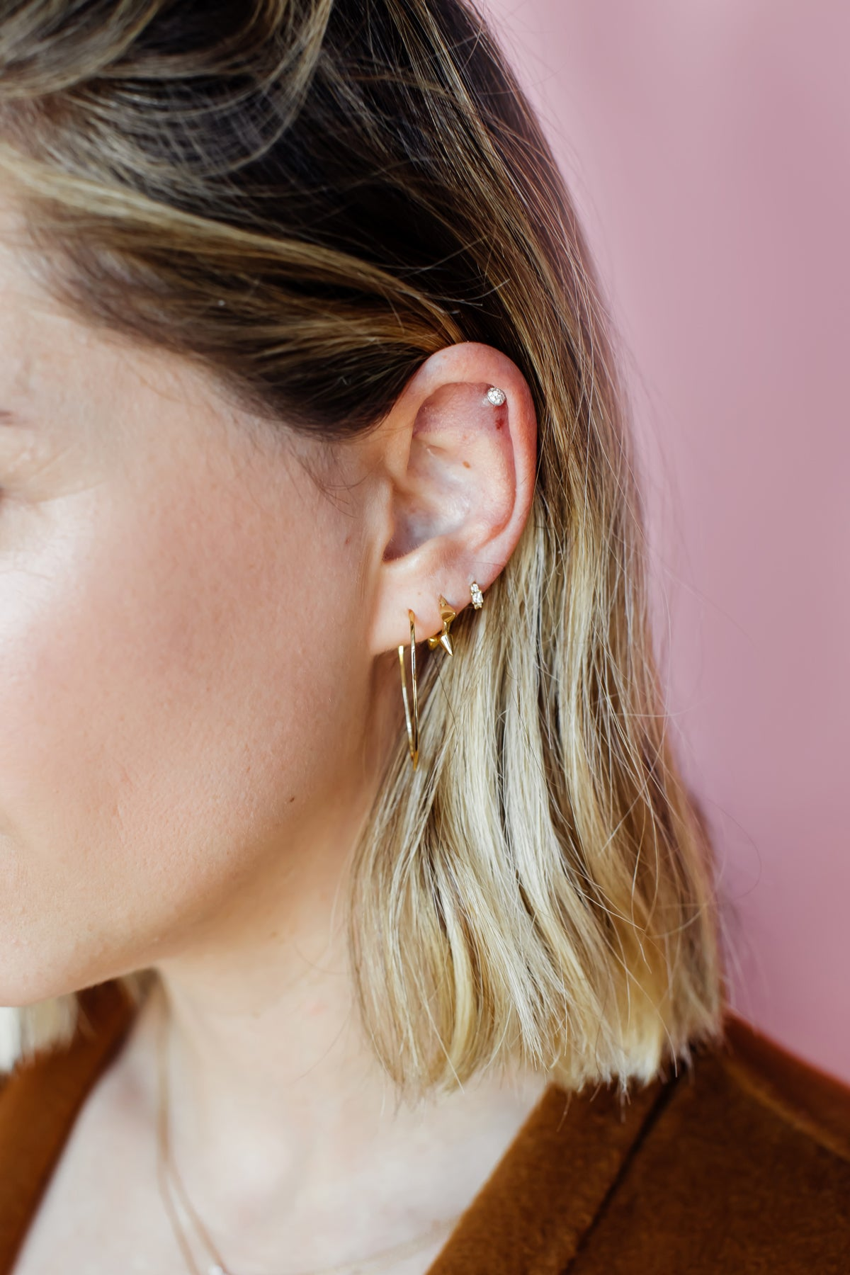 Ally Mini-Spike Earrings