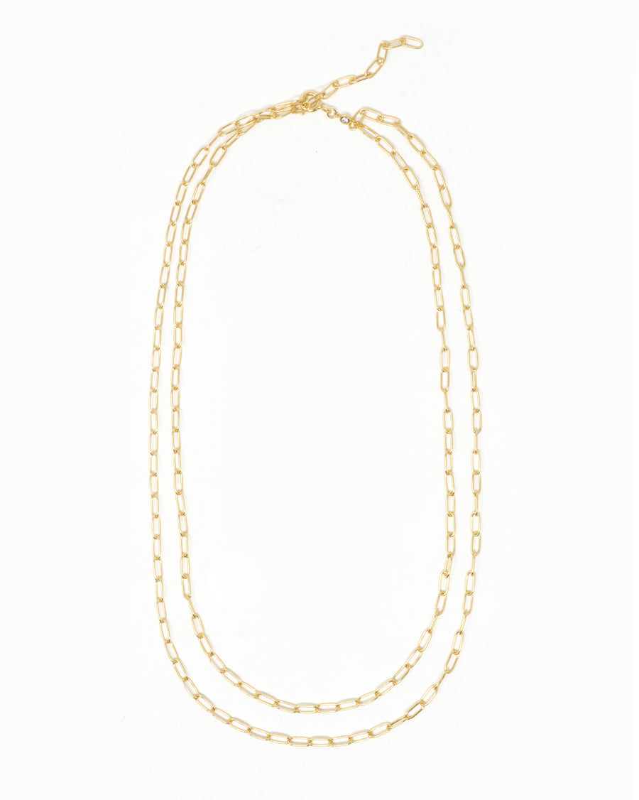 JENNIFER DOUBLE CHAIN NECKLACE