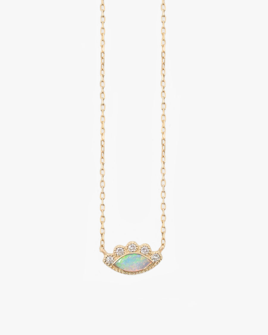 HAYES MINI OPAL AND DIAMOND NECKLACE