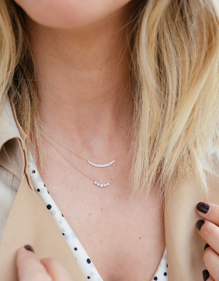 Stinson Large Diamond Curve Necklace