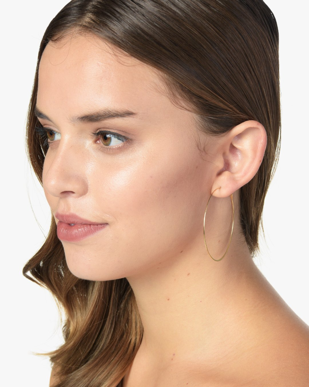 THIN LARGE HOOPS