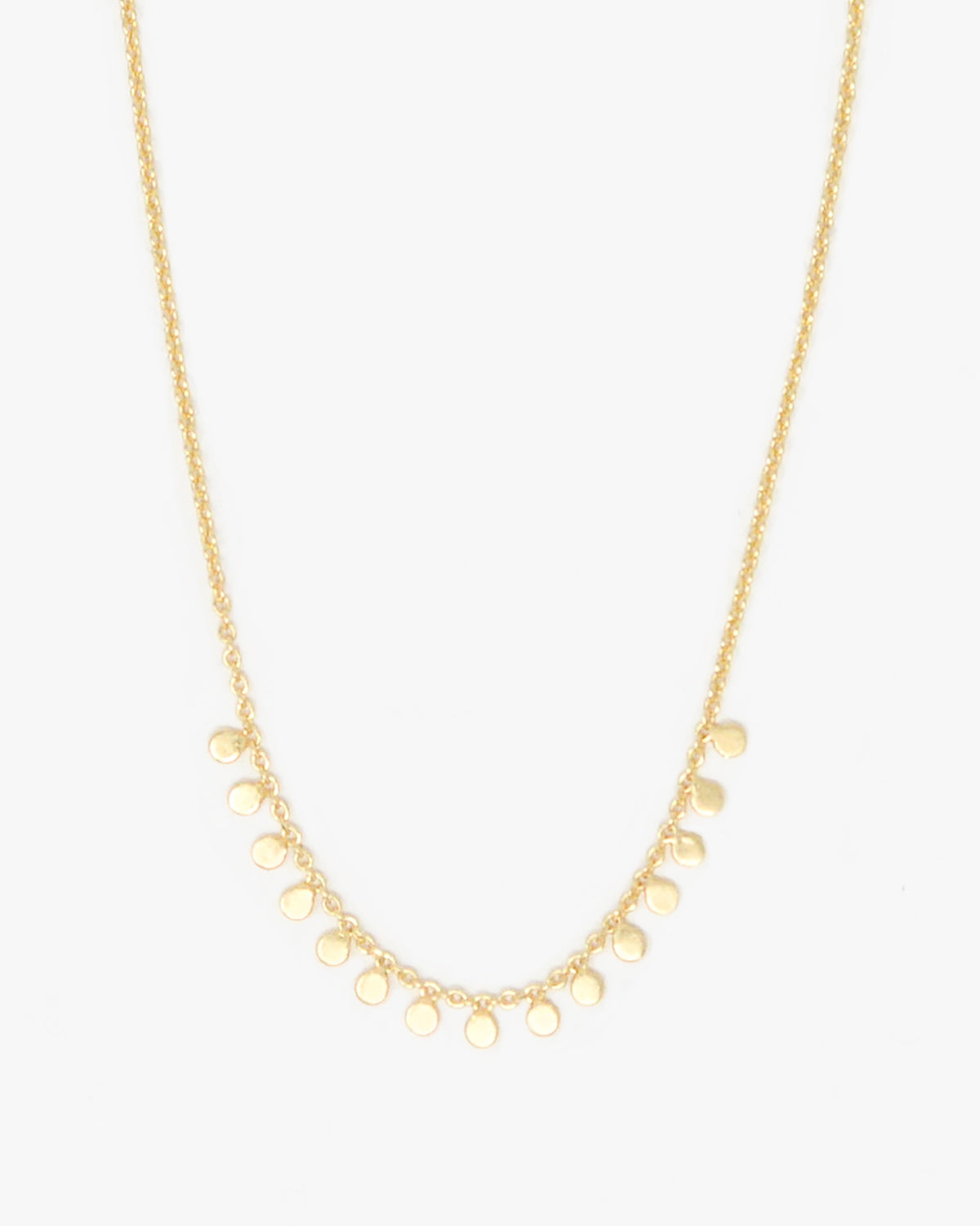 FAIRFAX 15 DISC SHAKER NECKLACE
