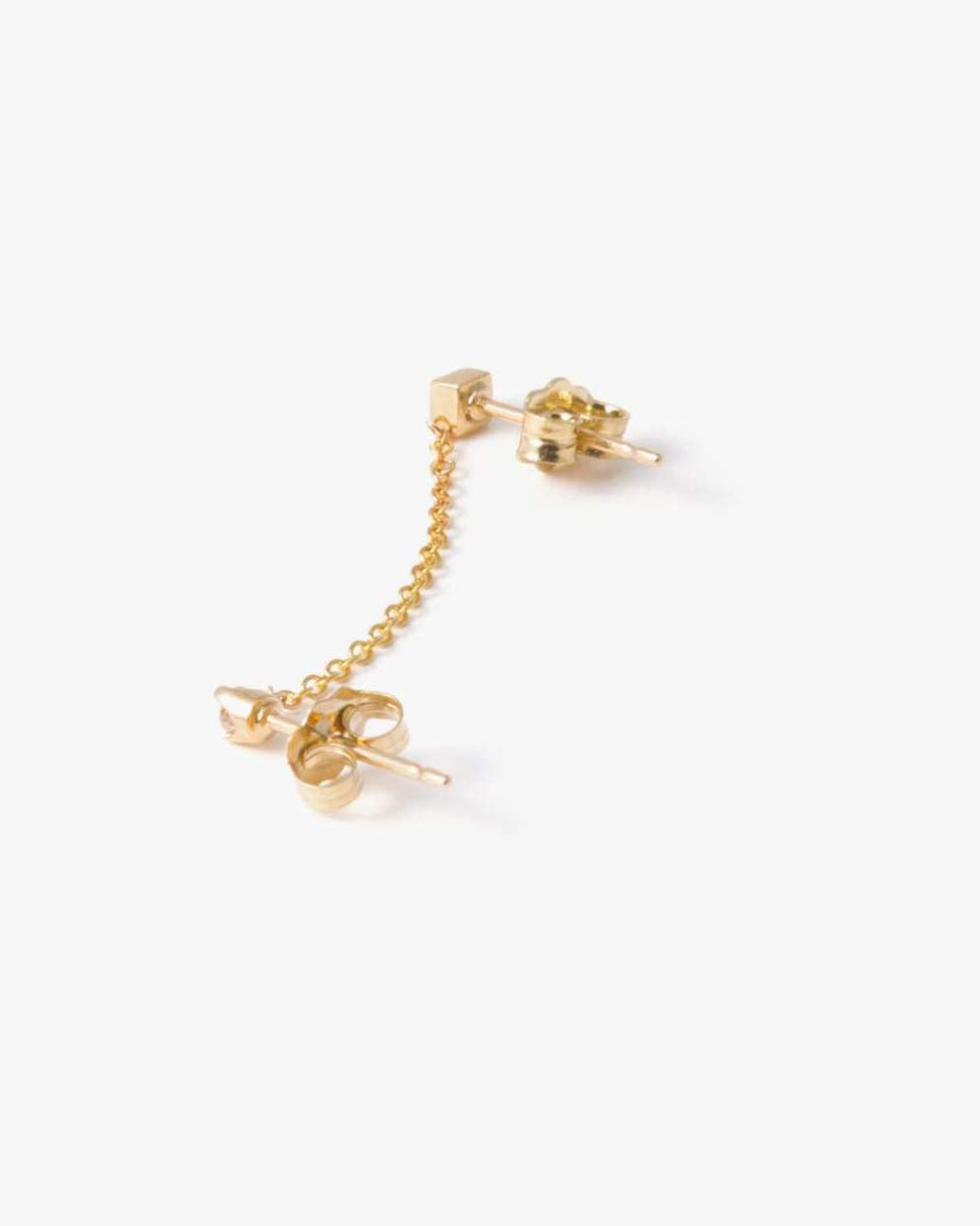 DIAMOND CHAIN STUD EARRING