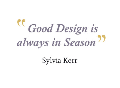 Good Design is Always in Season