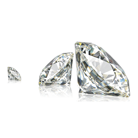 Three large very good quality diamonds
