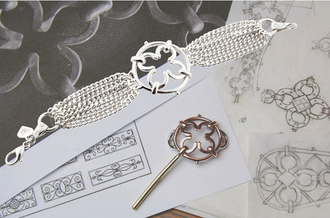 The making of the Blair silver wrought iron inspired bracelet