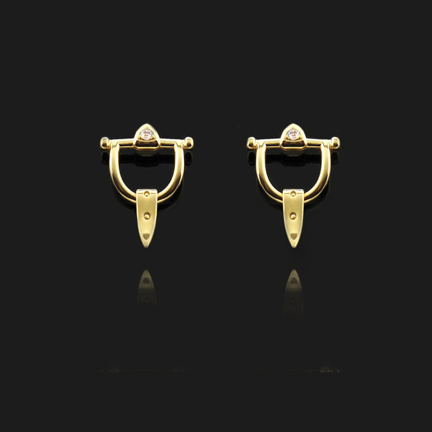 Gold & Diamond Burghley Earrings