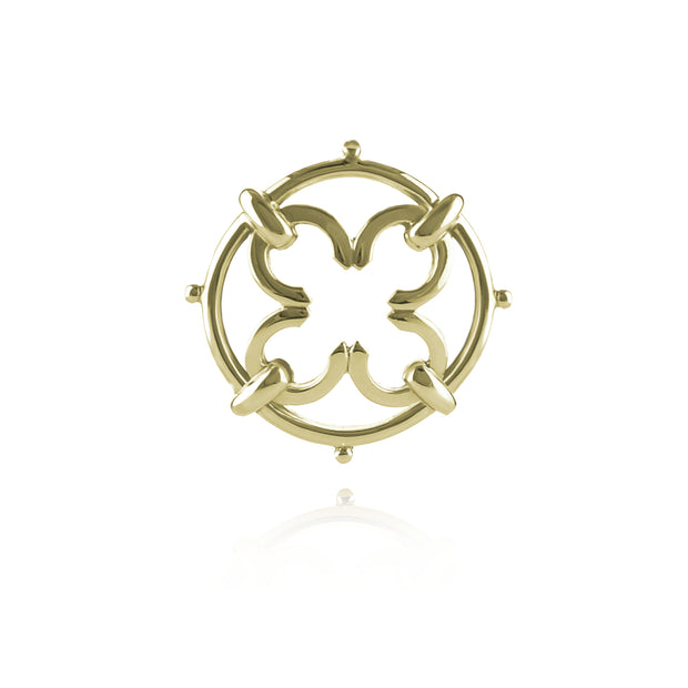solid 9ct gold designer brooch/stockpin inspired by Scottish baronial ironwork.