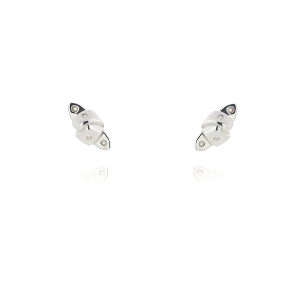 Silver Stud Blenheim Earrings