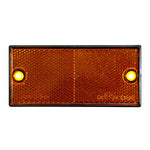ORANGE SCREW MOUNT REFLECTOR RECT. - 91 x 47 mm