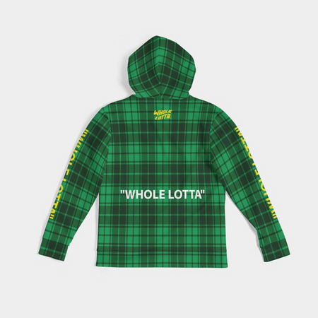 "Plaid ""WHOLE LOTTA"" Hoodie - Green"