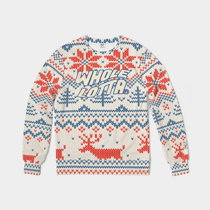 Whole Lotta Christmas Sweater - Red/Blue