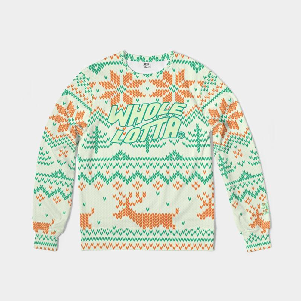 Whole Lotta Christmas Sweatshirt - Orange/Green