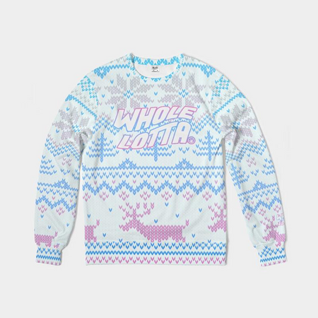Whole Lotta Christmas Sweater - Blue/Pink