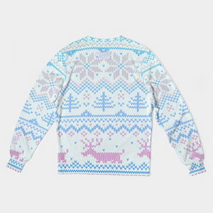 Whole Lotta Christmas Sweatshirt - Blue/Pink