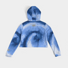 Whole Lotta Blue Tie Dye Crop Hoodie