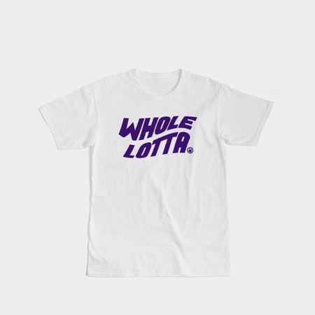Purple Logo Tee - White
