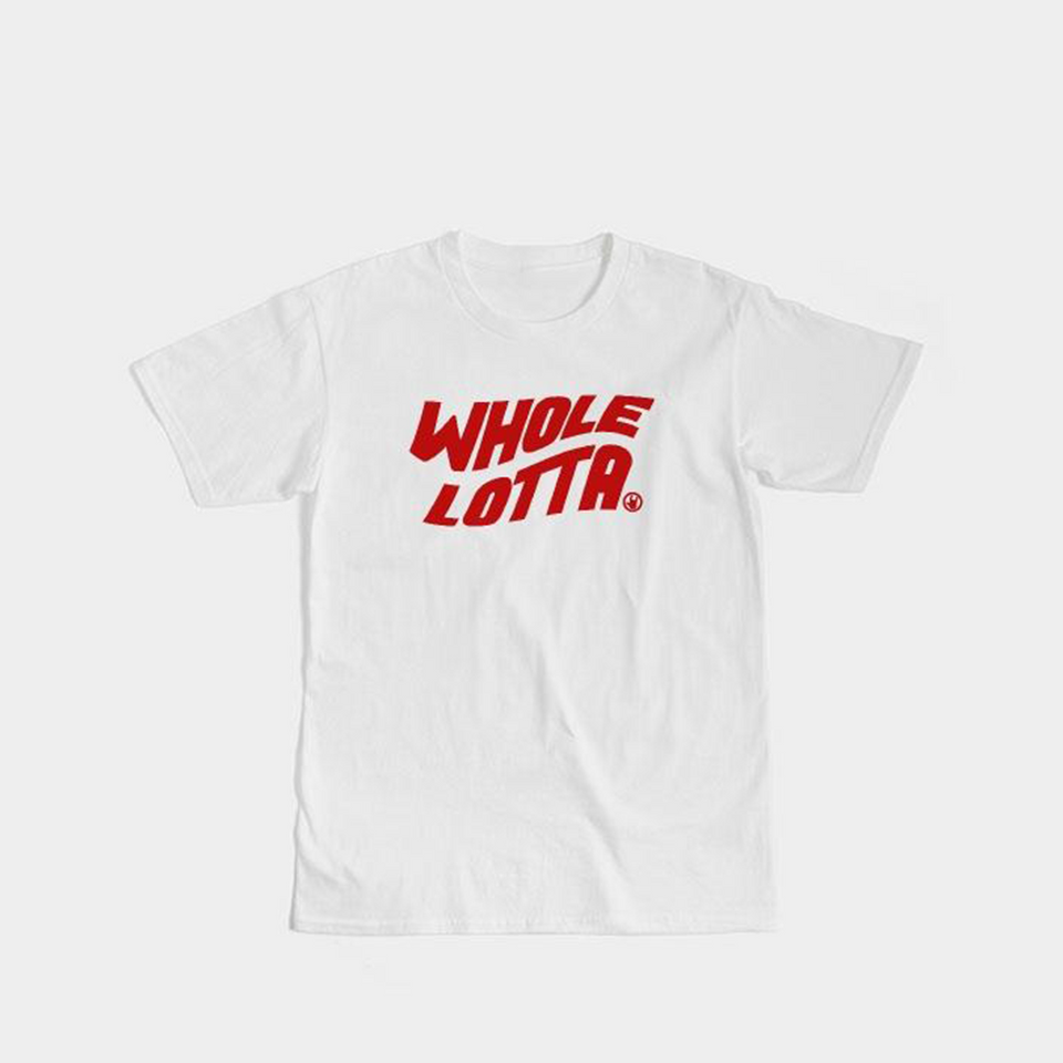 Red Logo Tee - White