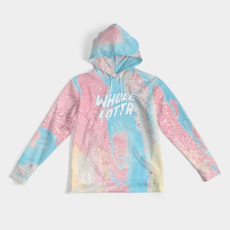 Marble Logo Hoodie - Red/Blue/Cream