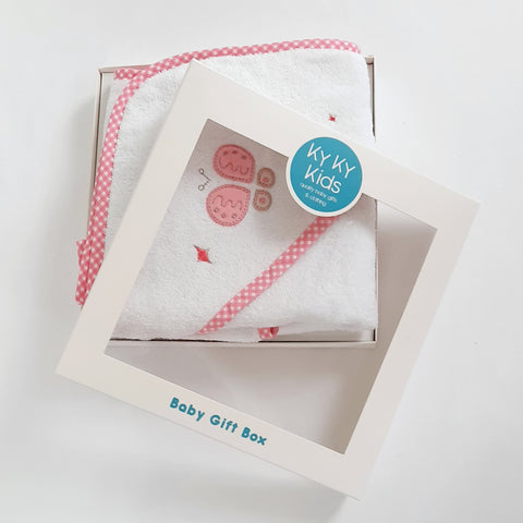 Baby Girls Hooded Towel Gift