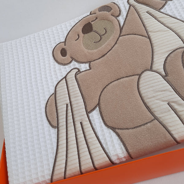 Cuddly Bear Cotbed Bedding Set