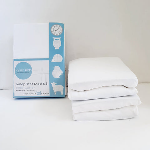 "Cotbed ""So Soft"" Fitted Sheets 2 Pack - 70 x 140 cm"