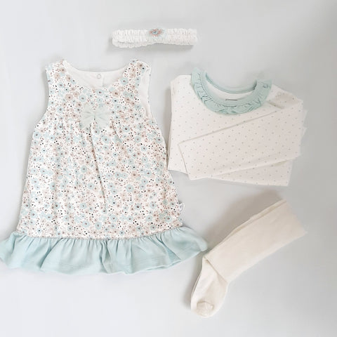 Matilda girls mint floral combo