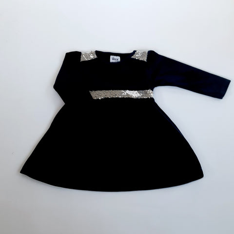 Vanessa Girls Navy Velvet Dress